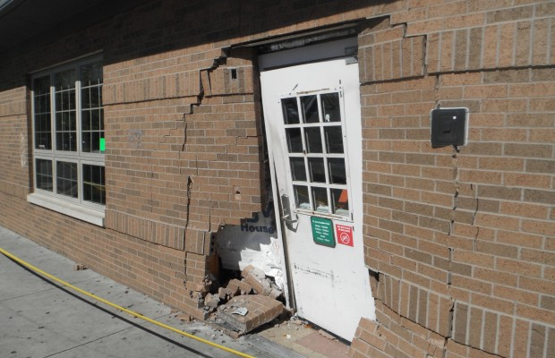 Vehicle Crashes Into St. John's Breadline