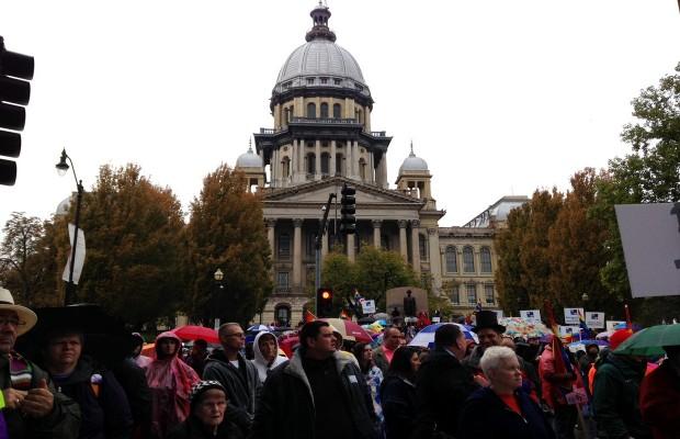 Same Sex Marriage Rally Draws Thousands