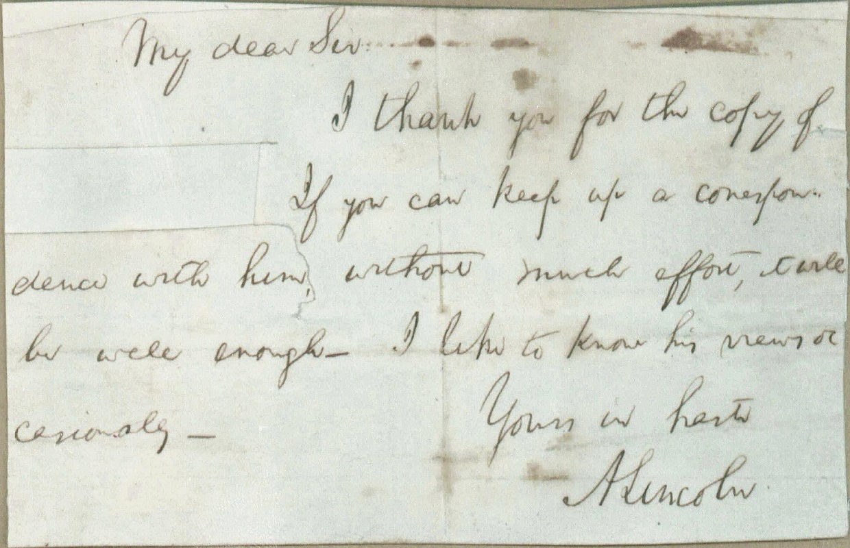 "New Abraham Lincoln Letter Reveals His ""Political"" Side"
