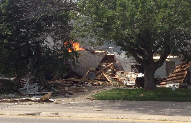 Decatur House Explodes; Gas Leak to Blame