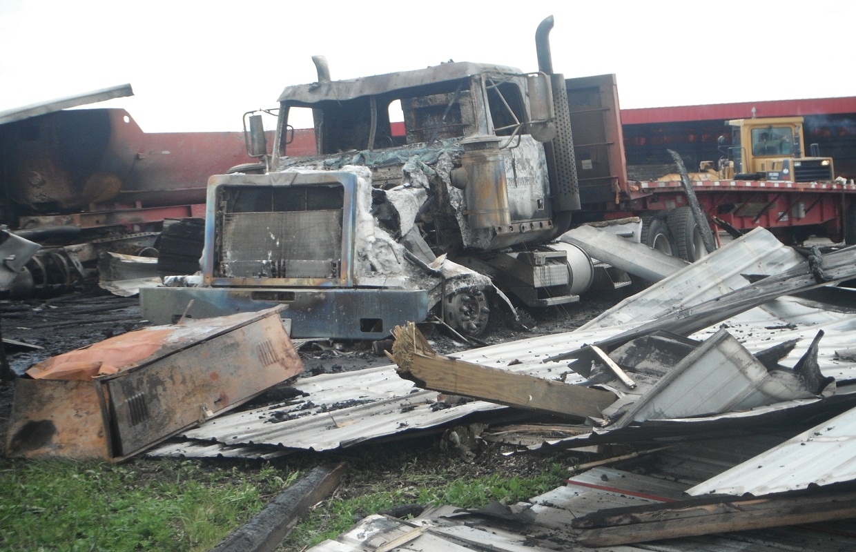 Williamsville Trucking Company Recovering From Fire