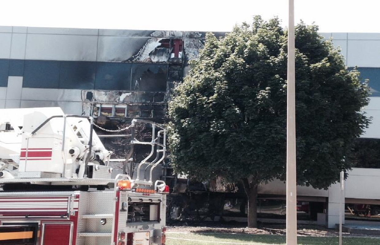 Fire Damages Downtown Office Building